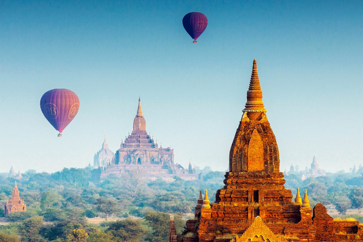 Bilder Tempelstadt Bagan, Myanmar  Franks Travelbox-7543