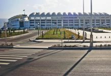 Asgabat in Turkmenistan besitzt ein Olympia-Stadium, obwohl dort noch nie die Olympischen Spiele ausgetragen wurden - © AltynAsyr CC BY-SA3.0/W