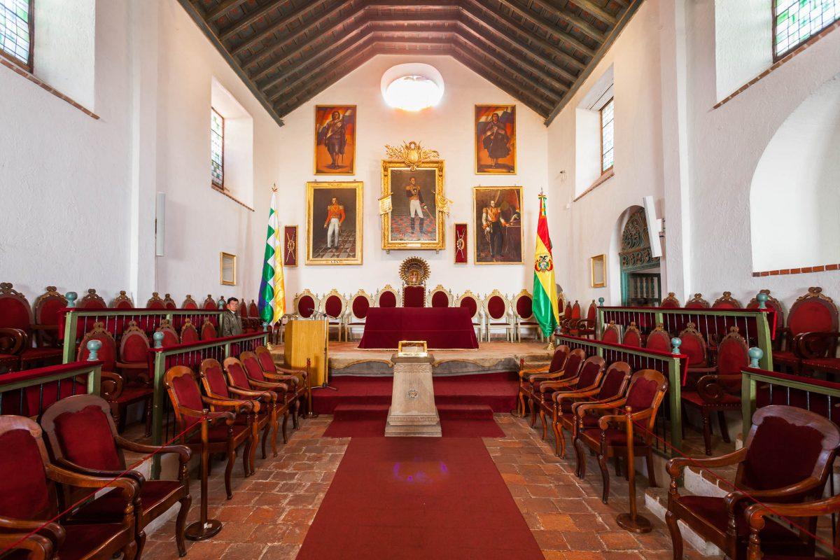 Ursprünglich war das Casa de la Libertad in Sucre eine jesuitische Kapelle, heute lockt es als Museum über die Geschichte Boliviens Besucher an - © saiko3p / Shutterstock