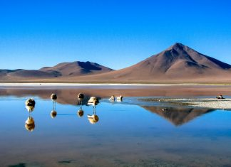 Wird der Salar de Uyuni geflutet, verwandelt er sich in den größten Spiegel der Welt - perfekt um Satelliten auszurichten, Bolivien - © Itay.G / Shutterstock