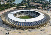 Das Mineirão-Stadion in der brasilianischen Stadt Belo Horizonte ist eine Austragungsstätte der Fußball-WM 2014 - © Luan S.R. CC BY-SA3.0/Wiki