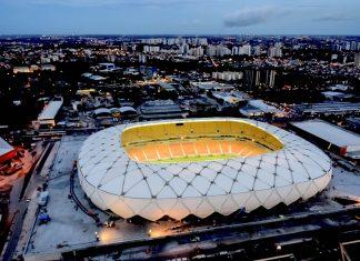 Die Arena da Amazônia in der brasilianischen Stadt Manaus ist eine Austragungsstätte der Fußball-WM 2014, Brasilien - © Portal da Copa CC BY3.0/Wiki