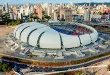 Die Arena das Dunas in der brasilianischen Stadt Natal ist eine Austragungsstätte der Fußball-WM 2014 - © Portal daCopa/ME CCBY3.0BR/W