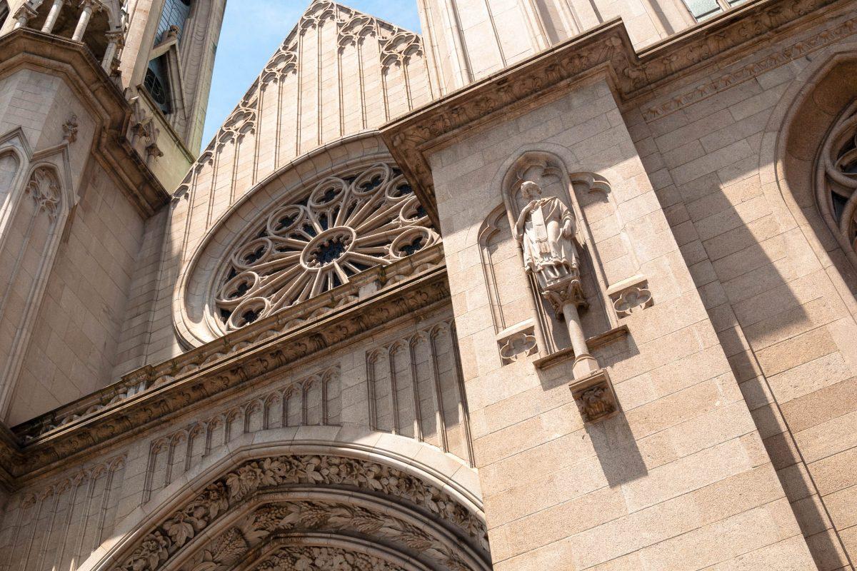 Detail der Fassade der Catedral da Sé in Sao Paulo, Brasilien - © cifotart / Shutterstock