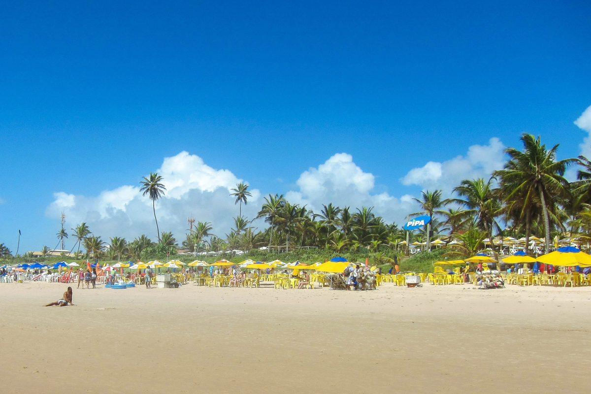 Zahlreiche Strandverkäufer bieten am Praia Flamengo so ziemlich alles an, was man für einen gelungenen Strandtag in Brasilien braucht - © FRASHO / franks-travelbox