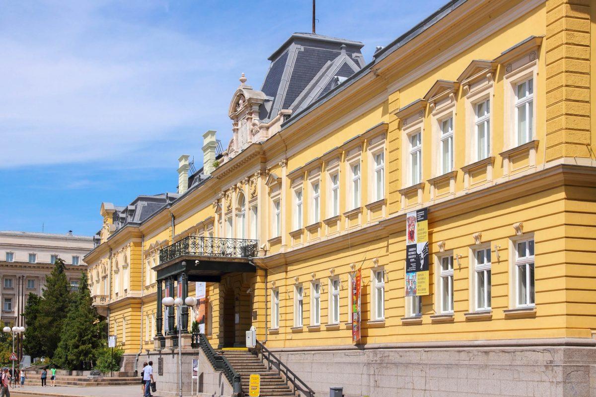 Das prächtige Gebäude der heutigen National Art Gallery von Sofia steht seit 1978 unter Denkmalschutz , Bulgarien - © Tupungato / Shutterstock