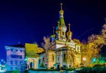 Die zauberhafte Nikolaikirche im Herzen von Sofia ist das zentrale Gotteshaus der russisch-orthodoxen Gemeinde in Bulgarien - © pavel dudek / Shutterstock