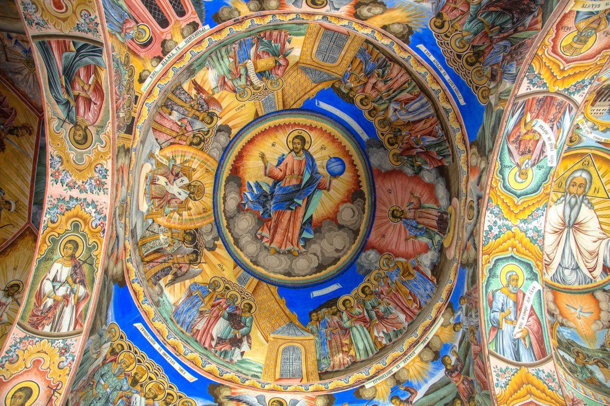 Kunstvolle Malerei im Rila-Kloster im Südwesten Bulgariens - © XtravaganT / Fotolia
