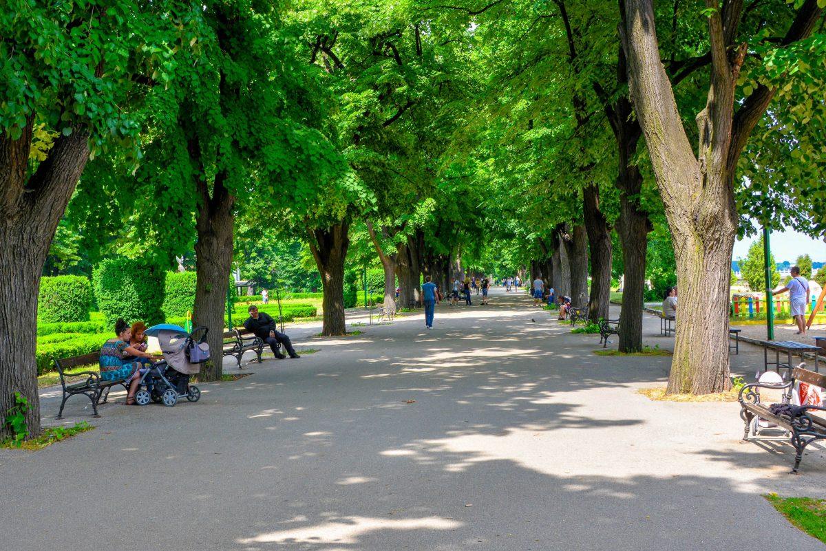 Die rund 2km lange Straße durch den Donaupark führt bis zur Festung Baba Vida, dem Wahrzeichen von Vidin, Bulgarien - © FRASHO / franks-travelbox