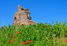 Von dem einst wohl stattlichen Red Church aus dem 5. oder 6. Jahrhundert steht heute lediglich das Gerüst aus roten Backsteinen, Bulgarien - © FRASHO / franks-travelbox.com