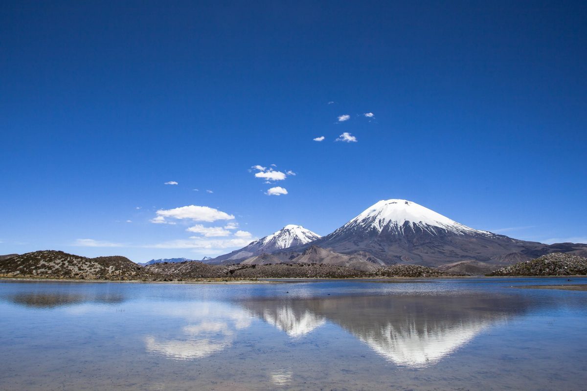 Der schneebedeckte Parinacota Vulkan im Lauca Nationalpark, Chile - © Jeremy Reddington / Shutterstock