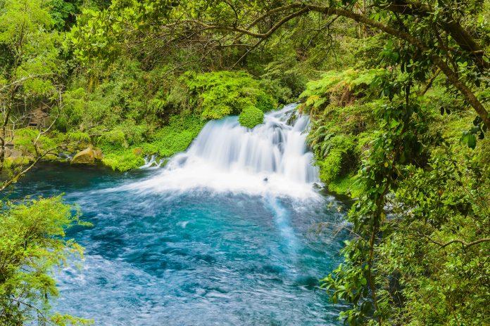 Die azurblauen Ojos del Caburgua im Süden von Chile locken mit üppiger Vegetation, rauschenden Wasserfällen und einer vielfältigen Tier- und Pflanzenwelt - © Alberto Loyo / Shutterstock
