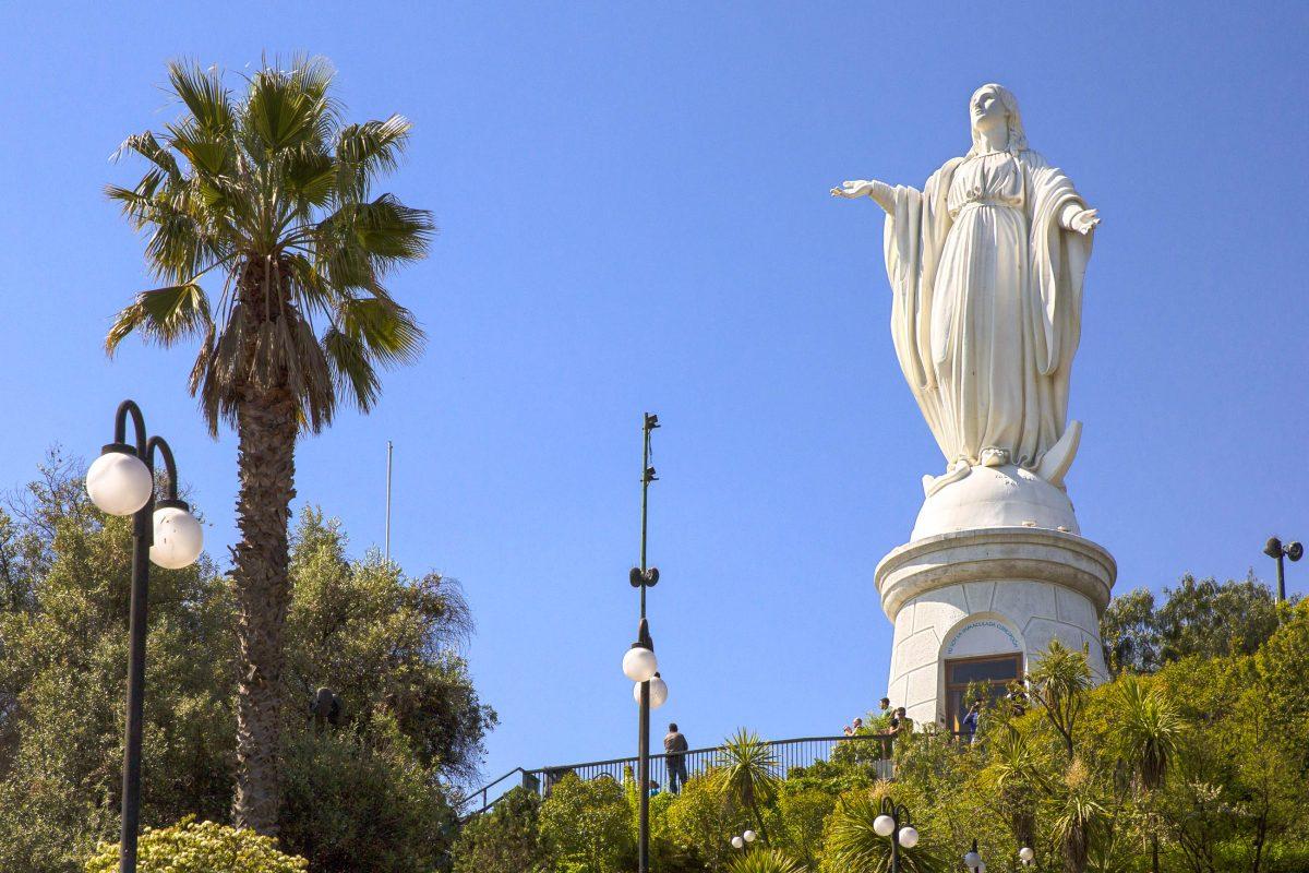 Cerro san crist bal in santiago de chile chile franks for Papeles murales en santiago de chile