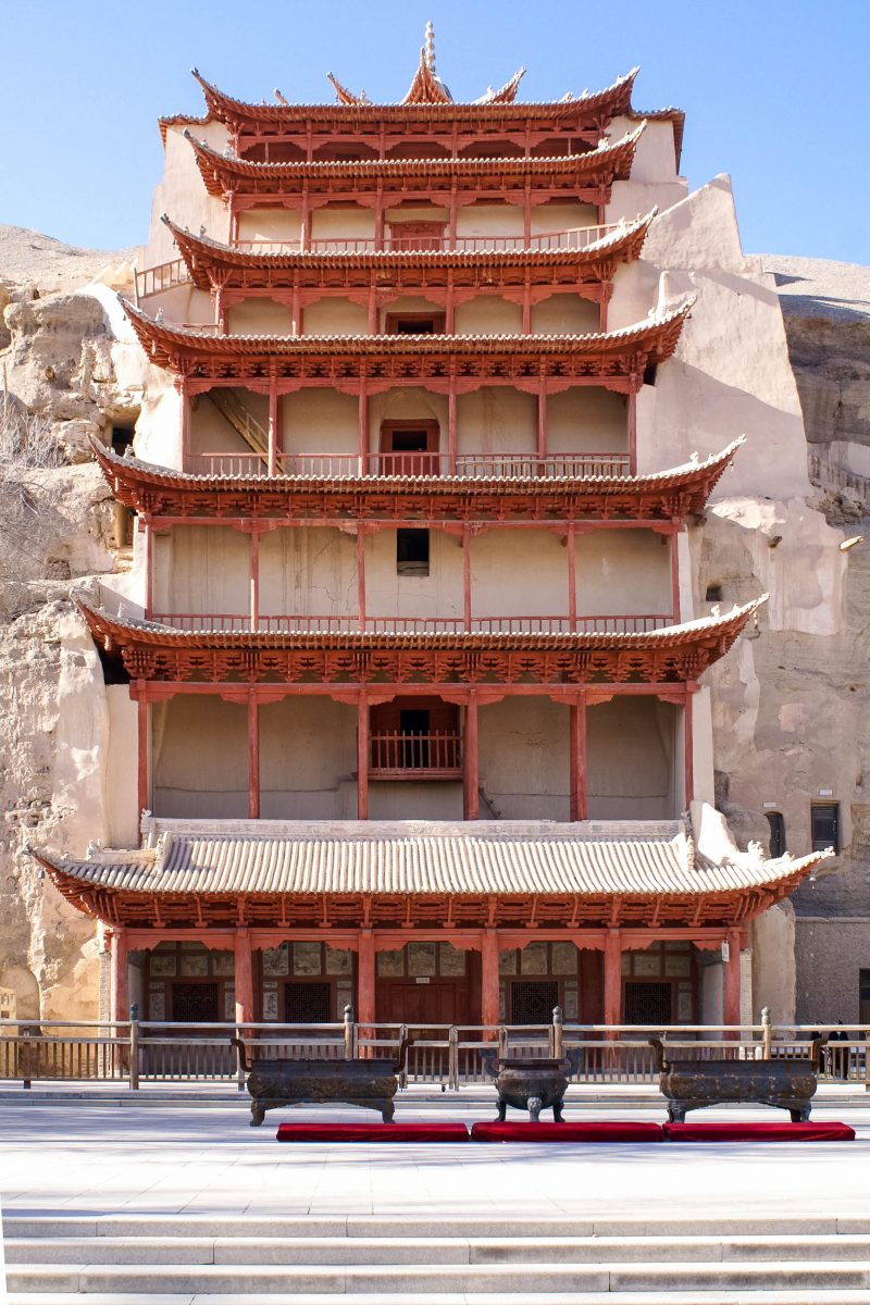 Der neunstöckige Pavillon der Mogao-Höhlen, China - © Valery Shanin / Shutterstock Fotolia