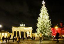 Ein Weihnachtsbaum vor dem Brandenburger Tor in Berlin, Deutschland - © 360b / Shutterstock