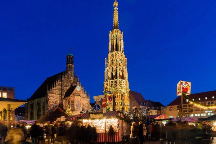 Weihnachtsmarkt Nürnberg.Weihnachtsmarkt Christkindlesmarkt In Nürnberg Deutschland