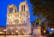 """Die Kathedrale Nôtre Dame (""""Unsere Dame"""") bei Nacht, Paris, Frankreich - © Roman Sigaev / Fotolia"""
