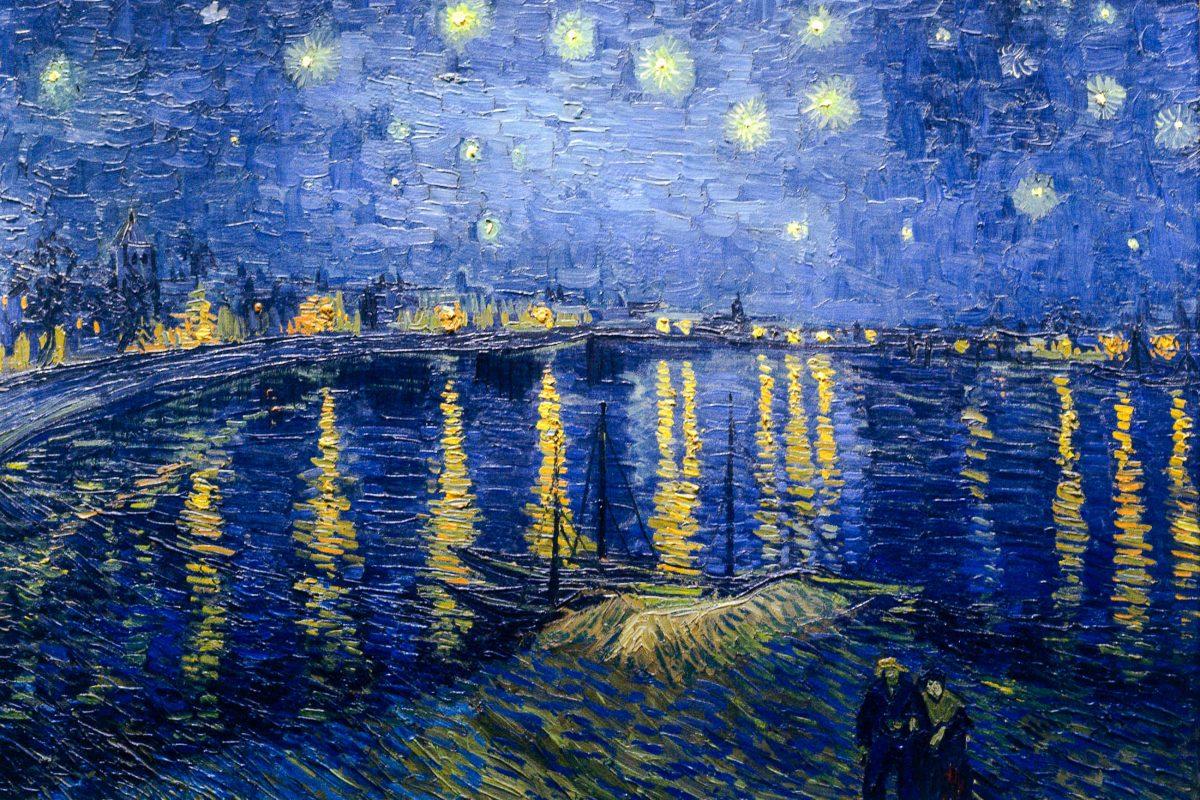 """Vor allem die Sammlung an Impressionisten im Pariser Musée d'Orsay, Frankreich, sucht weltweit ihresgleichen, hier die """"Sternenklare Nacht über der Rhone"""" von Vincent van Gogh - © Inconnu PD / Wiki"""