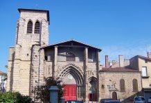 Die gotische Grand Église liegt am Place Boivin im historischen Herzen von Saint-Étienne und gilt seit 1949 als historisches Denkmal, Frankreich - © Wikijoe PD / Wikipedia