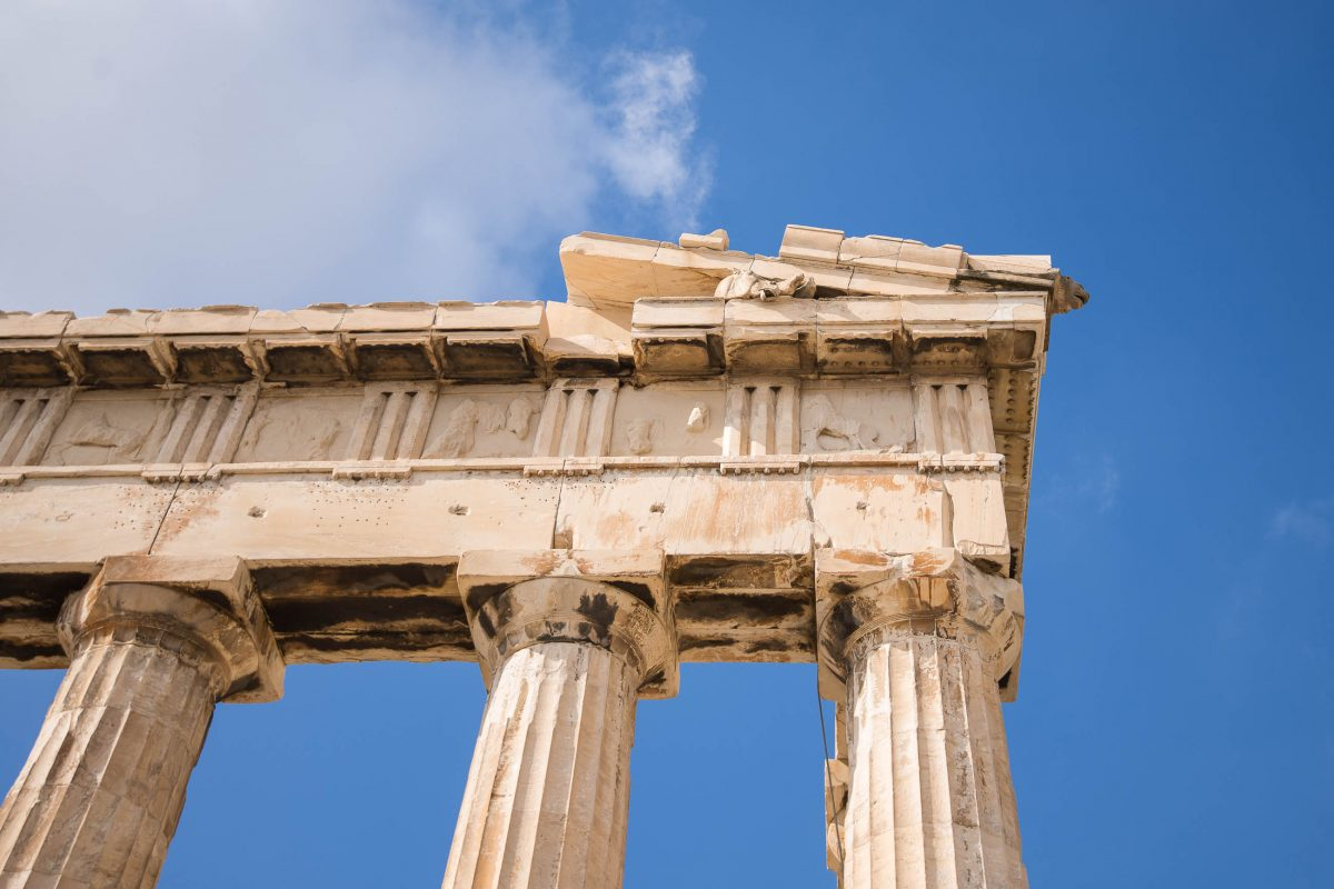 Detailansicht des Parthenon, dem Haupttempel der Akropolis in der griechischen Hauptstadt Athen, Griechenland - © James Camel / franks-travelbox