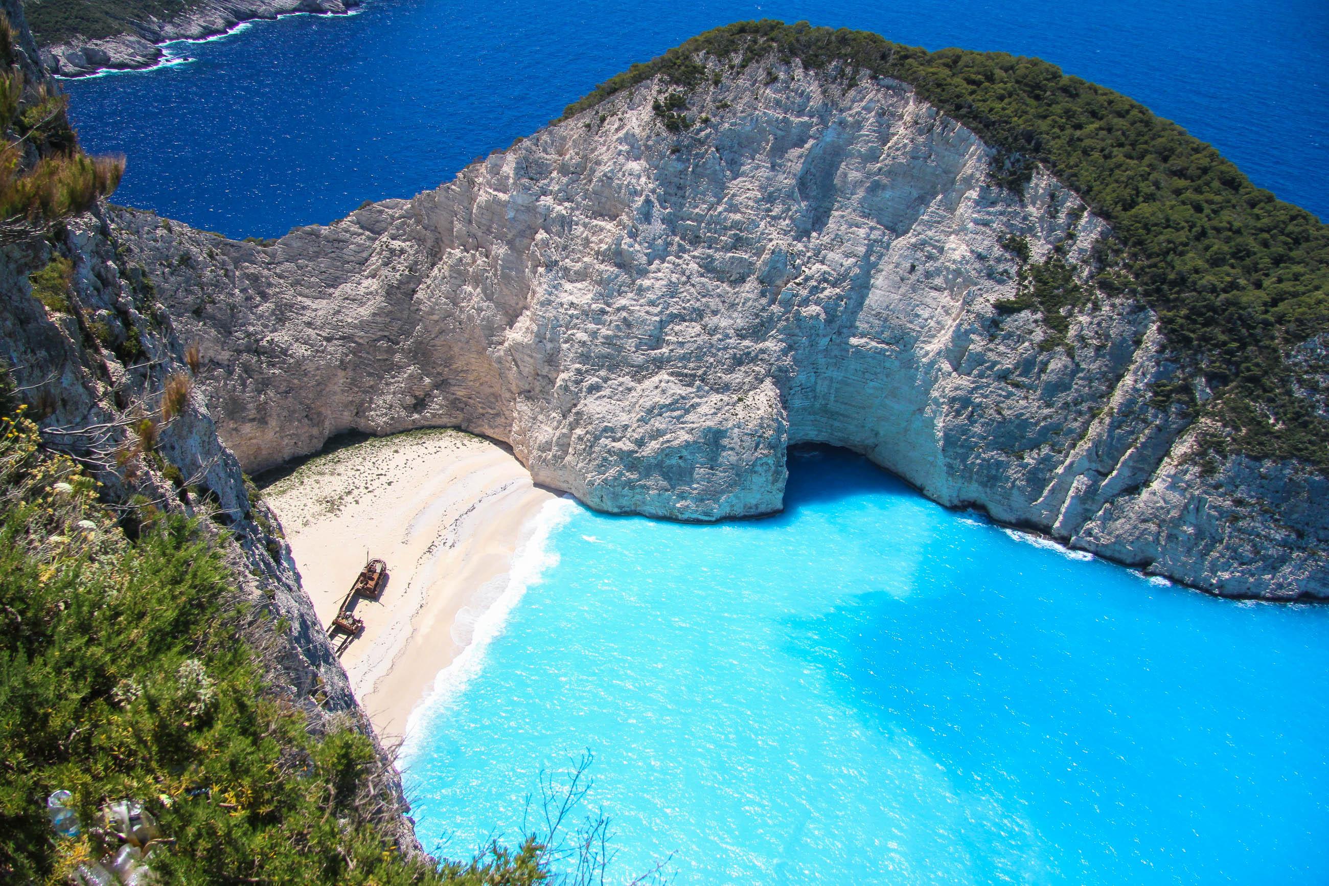 Schmuggler Bucht Auf Zakynthos Griechenland Franks Travelbox