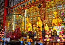 Der Tempel der 10.000 Buddhas liegt in den New Territories von Hong Kong im Pai Tau Village - © AmyNicholeHarris/Shutterstock