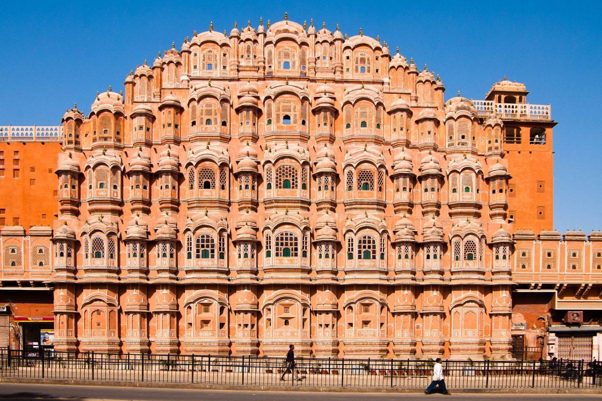 bilder hawa mahal palast der winde in jaipur indien franks travelbox. Black Bedroom Furniture Sets. Home Design Ideas