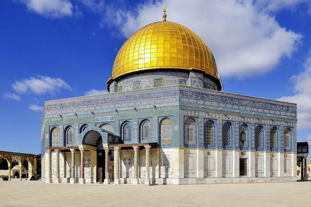 Der berühmte Felsendom auf dem Tempelberg in Jerusalem, Israel, ist eines der größten Heiligtümer und das älteste erhaltene Bauwerk des Islam - © Martin Froyda / Shutterstock