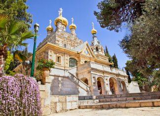 Die Maria Magdalenen Kirche auf dem Ölberg ist weithin sichtbar und eines der wichtigsten Wahrzeichen Jerusalems, Israel  - © Aleksandar Todorovic / Fotolia