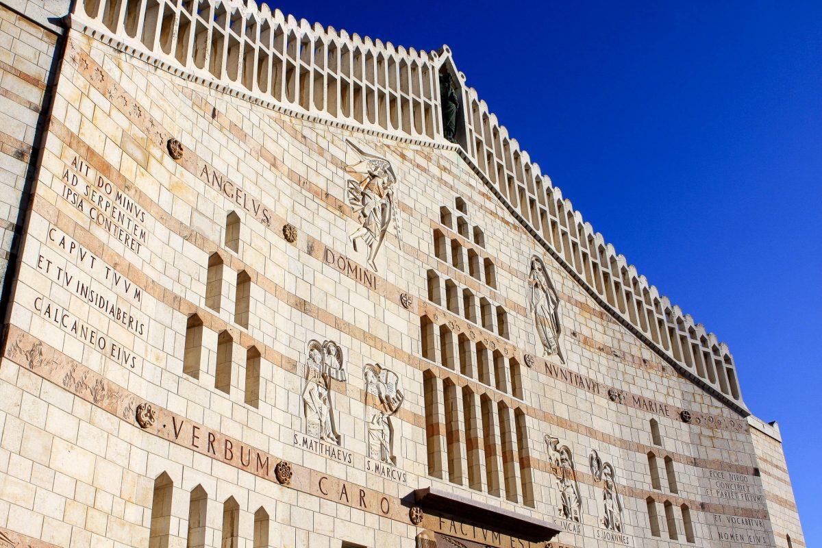 Die katholische Verkündigungsbasilika, die 1969 geweiht wurde, zählt zu den größten Gotteshäusern im Nahen Osten, Nazareth, Israel - © Eve81 / Fotolia