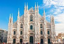 Der Mailänder Dom ist flächenmäßig nach dem Petersdom in Rom und der spanischen Kathedrale von Sevilla die drittgrößte Kirche der Welt, Italien - © MasterLu / Fotolia