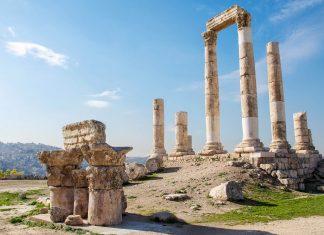 Der Herkules-Tempel auf dem Zitadellen-Hügel von Amman bildet das bedeutendste römische Überbleibsel der Zitadelle, Jordanien - © flog / franks-travelbox