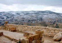 Vom höchsten Punkte der Kreuzritterburg von Kerak bietet sich ein herrlicher Rundblick, der an klaren Tagen bis zum Ölberg nach Jerusalem reicht, Jordanien - © flog / franks-travelbox