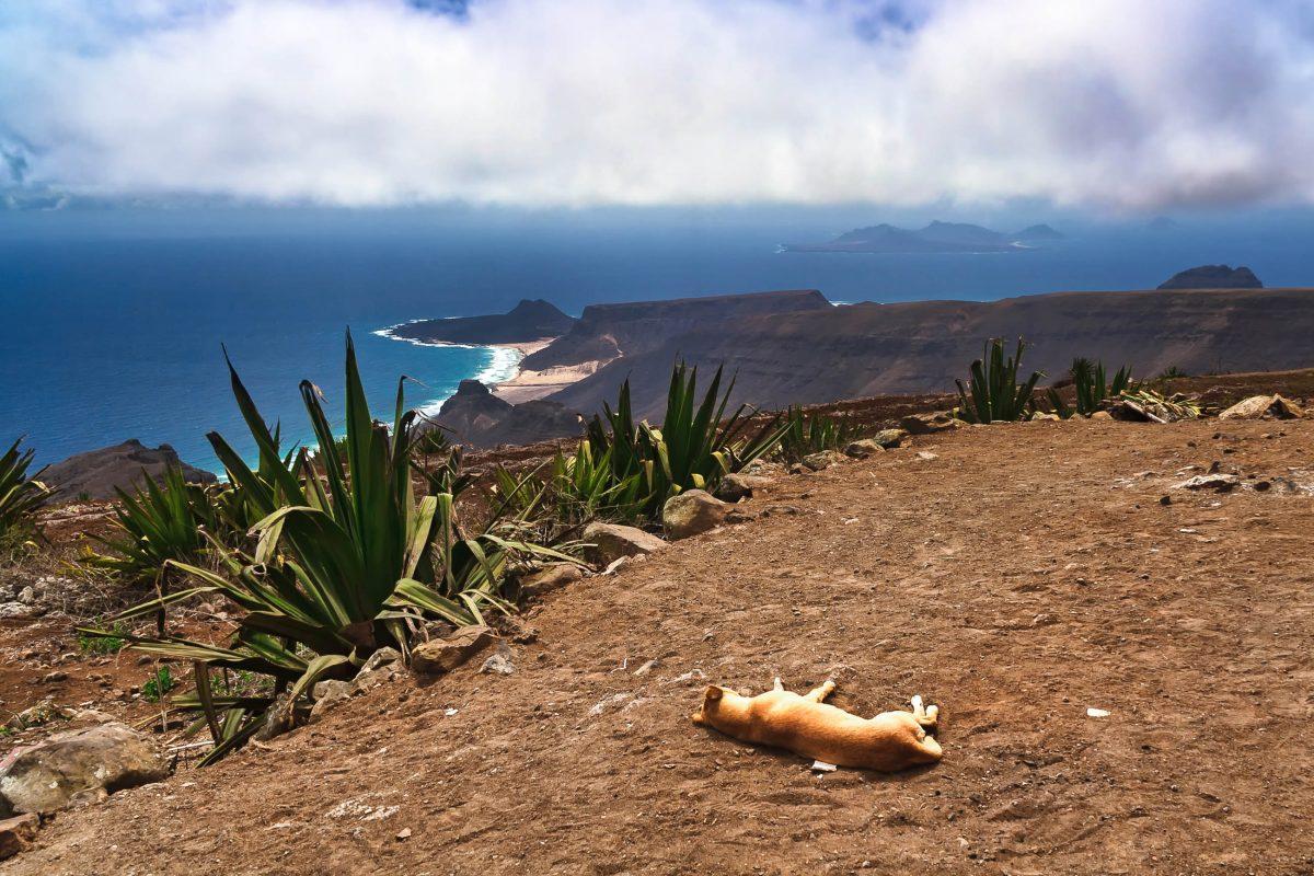 Aussicht auf São Vicente vom 750m hohen Monte Verde auf den Kap Verden - © Frank Bach / Shutterstock