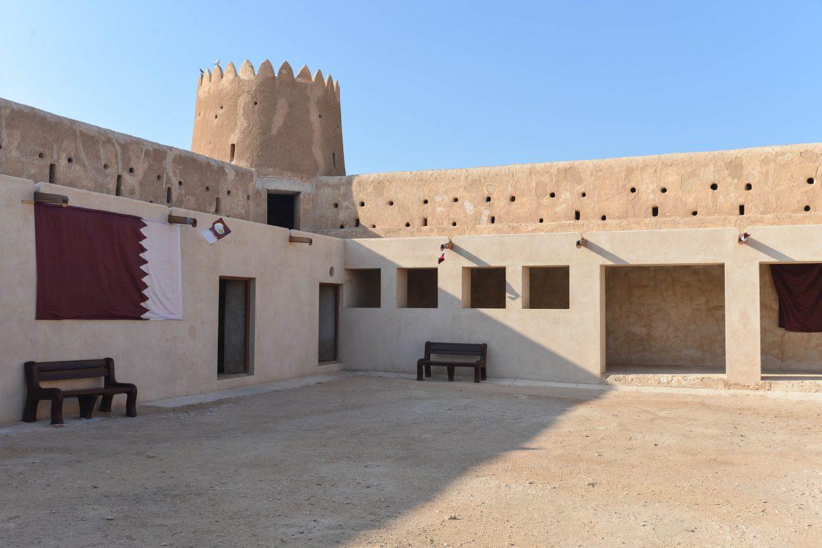 Die Architektur der Festung Zubara ist den traditionellen arabischen Festungen nachempfunden, allerdings ist ihr Fundament aus Beton, Katar - © FRASHO / franks-travelbox