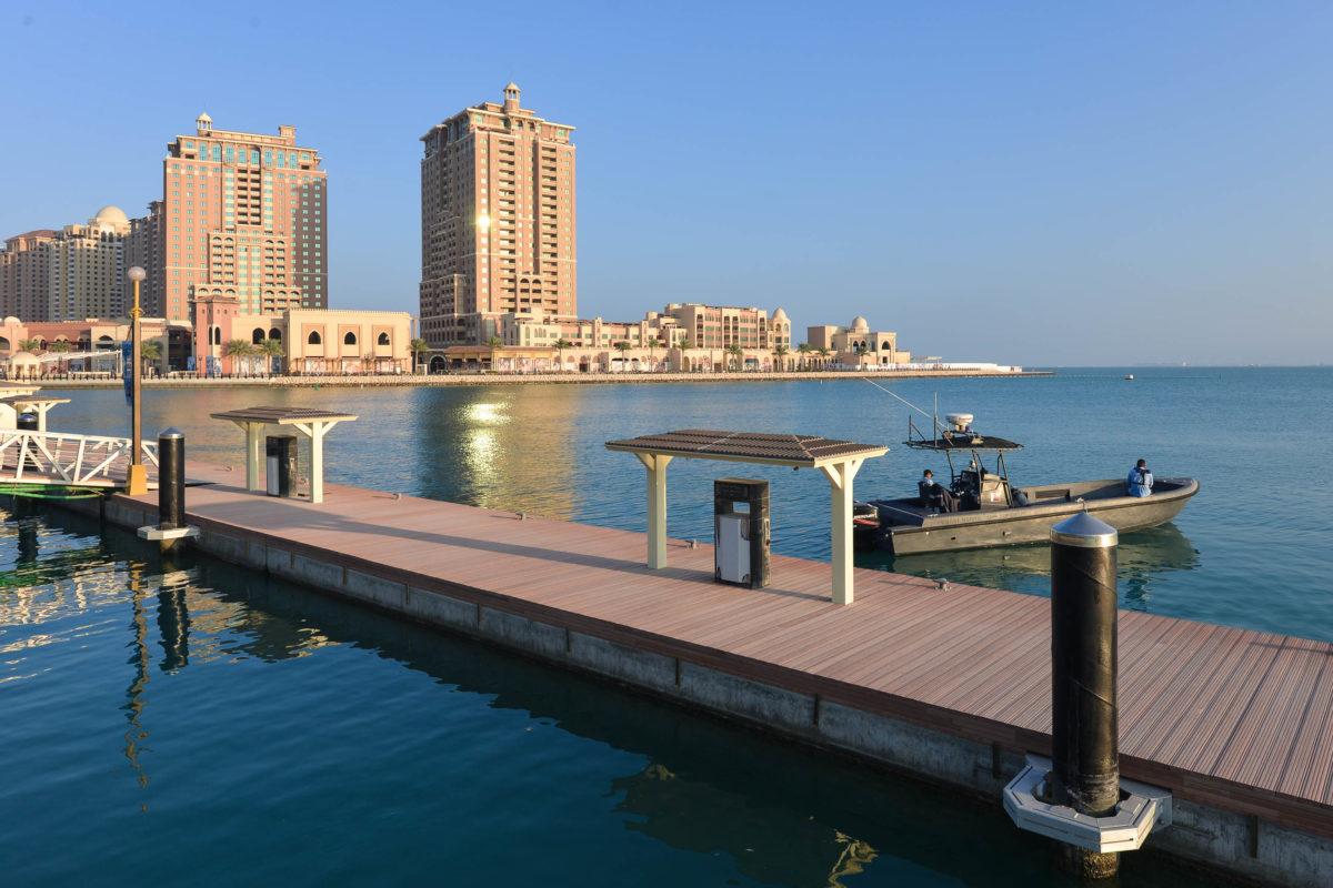 "Bootanlegestelle auf ""The Pearl"", Doha, Katar - © FRASHO / franks-travelbox"