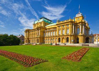 Das eindrucksvolle Nationaltheater am Tito-Platz ist Zagrebs prächtigste Bühne und zählt zu den bedeutendsten Sehenswürdigkeiten der Hauptstadt Kroatiens - © Phant / Shutterstock