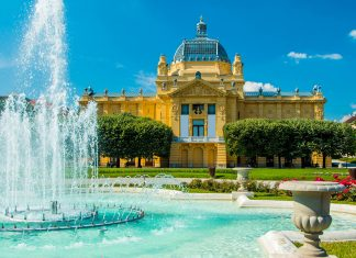 Der prachtvolle Kunstpavillon in Zagreb ist das älteste Kunstmuseum in Kroatien - © iascic / Shutterstock