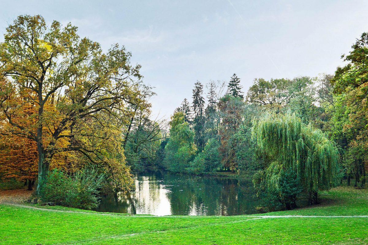 In den fünf künstlich angelegten Seen des Maksimir Parks in Zagreb, Kroatien, tummeln sich Fische und Schildkröten - © izzzy71 / Shutterstock