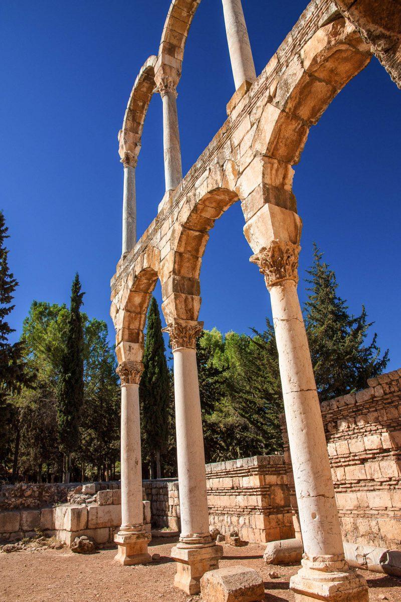 Die Ruinen von Anjar sind einzigartig, da sie ausschließlich die Baukunst und das soziale Leben der Umayyaden widerspiegeln, Libanon - © A.Karnholz - Fotolia