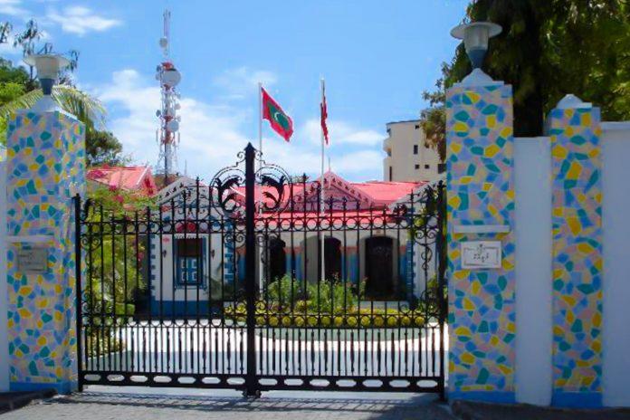 Blick auf den ehemaligen Präsidentenpalast Mulee Aage im historischen Stadtzentrum von Male, Malediven - © PD / CIA Factbook