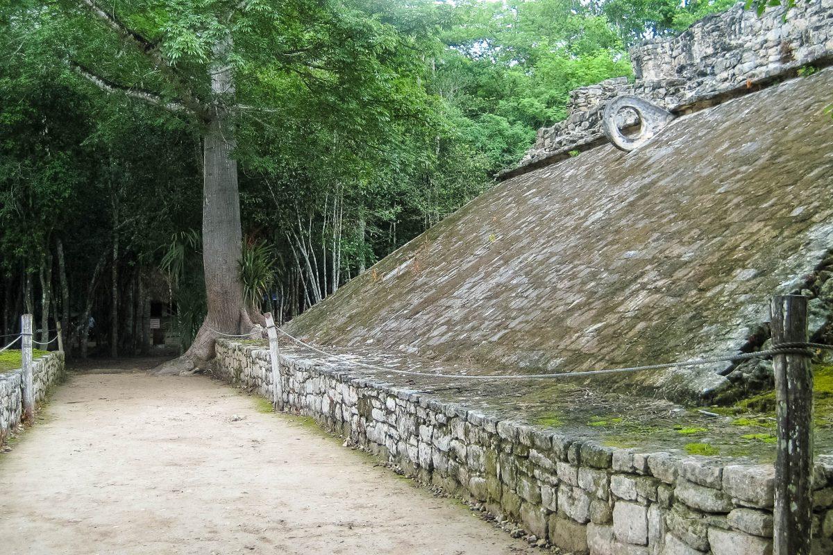 Die Ruinenstätte Cobá liegt ca. 40 Kilometer von der karibischen Küste entfernt, in etwa in der Mitte zwischen Valladolid und Tulum, Mexiko - © Jessy / franks-travelbox