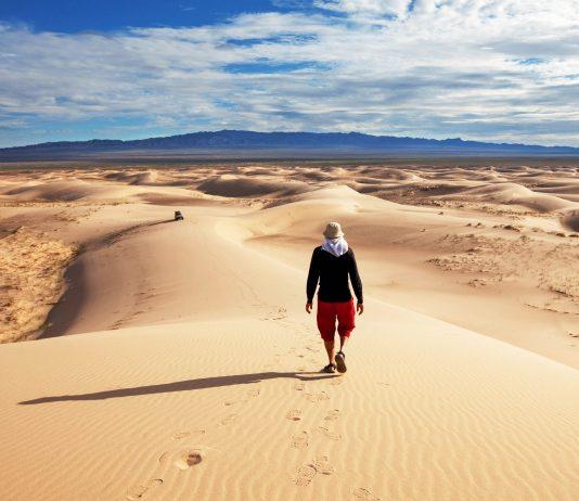 Außer einigen mongolischen Nomaden ist die Wüste Gobi unbewohnt und damit das am wenigsten besiedelte Gebiet der Welt, Mongolei - © Galyna Andrushko / Shutterstock