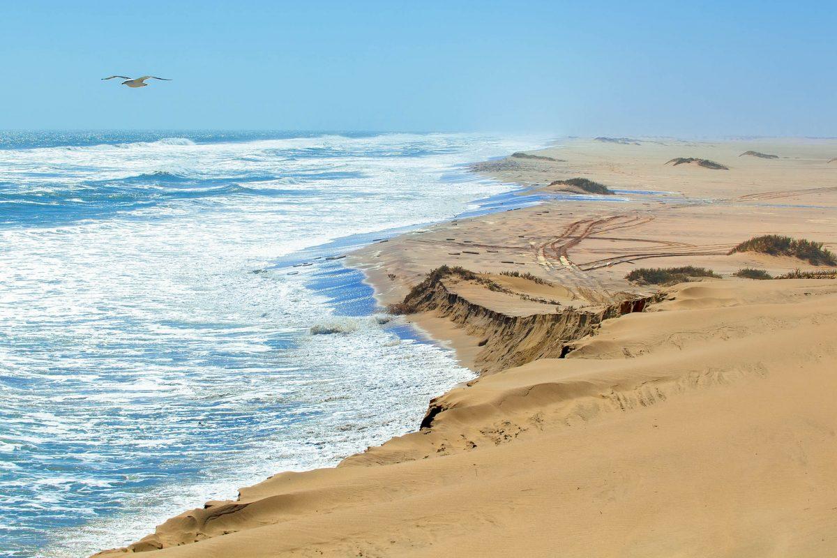 Blick auf die Skelett-Küste in Namibia mit den beeindruckenden Sanddünen der Wüste Namib - © MarcinSylwiaCiesielski/Shutterstock