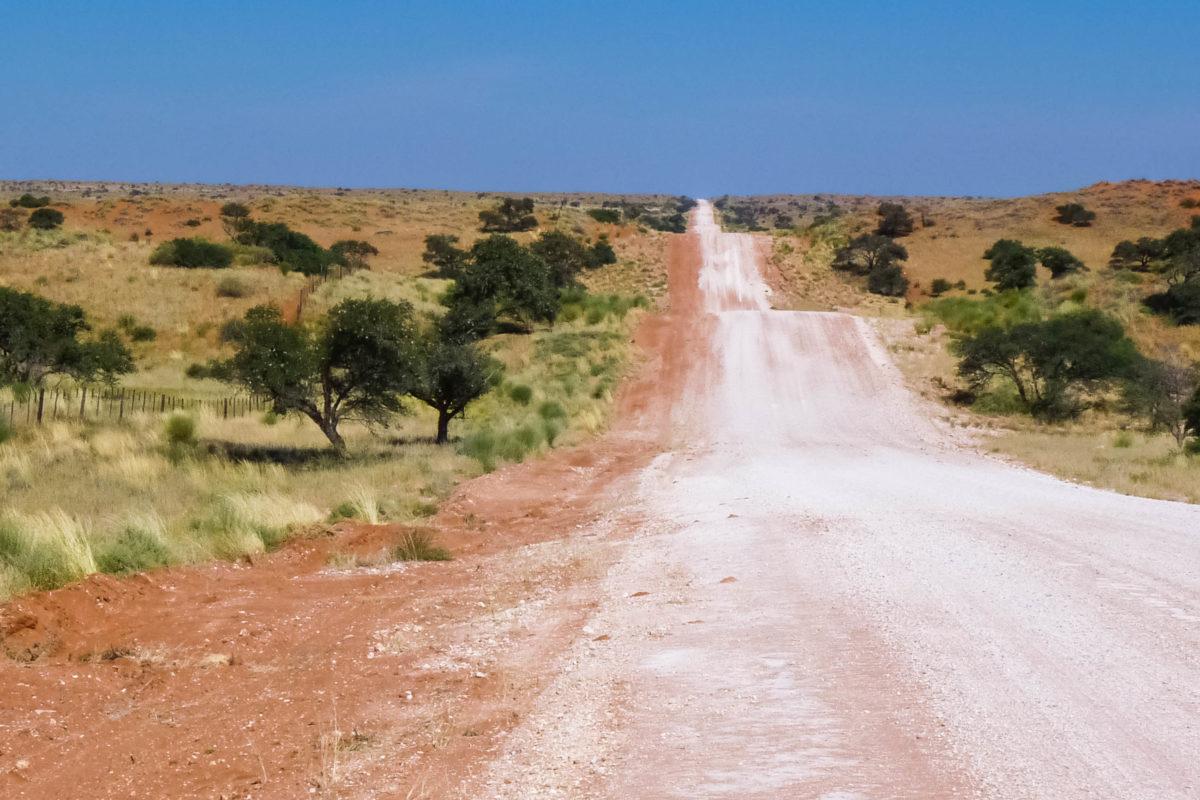 Eine Piste verläuft über die Dünen der Kalahari im Süden Namibias - © FRASHO / franks-travelbox