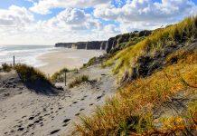 Ähnlich wie um das gesamte Cape Egmont ist auch bei der Küstenstadt Patea auf der Nordinsel von Neuseeland die Küstenlandschaft spektakulär anzusehen - © FRASHO / franks-travelbox