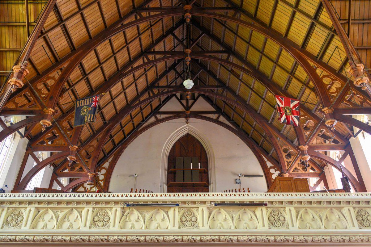 Die First Church in Dunedin, Neuseeland, wurde von Robert Lawson aus dem berühmten cremefarbenen Oamaru-Stone errichtet - © FRASHO / franks-travelbox