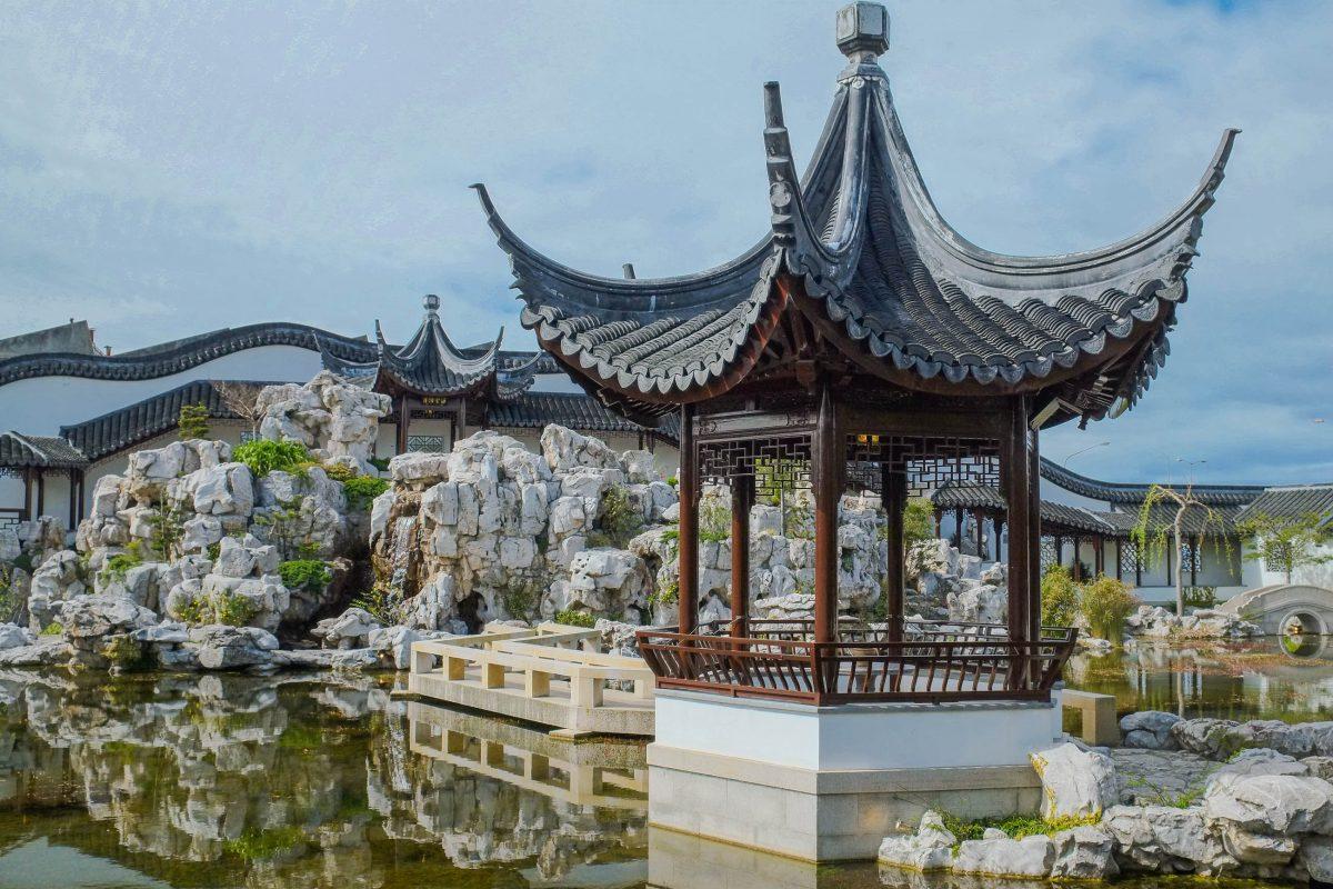 Nur wenige chinesische Gärten außerhalb Chinas sind so authentisch wie der Chinese Garden von Dunedin auf der Südinsel von Neuseeland - © Pseudopanax PD/Wiki