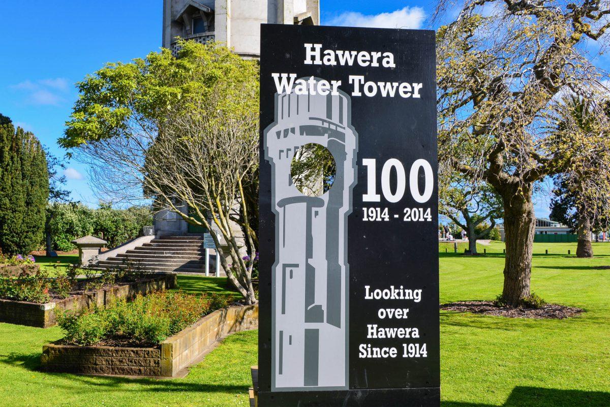 Um die Mittagszeit ist der Wasserturm von Hawera geöffnet und kann über 215 Stufen erklommen werden, Neuseeland - © FRASHO / franks-travelbox