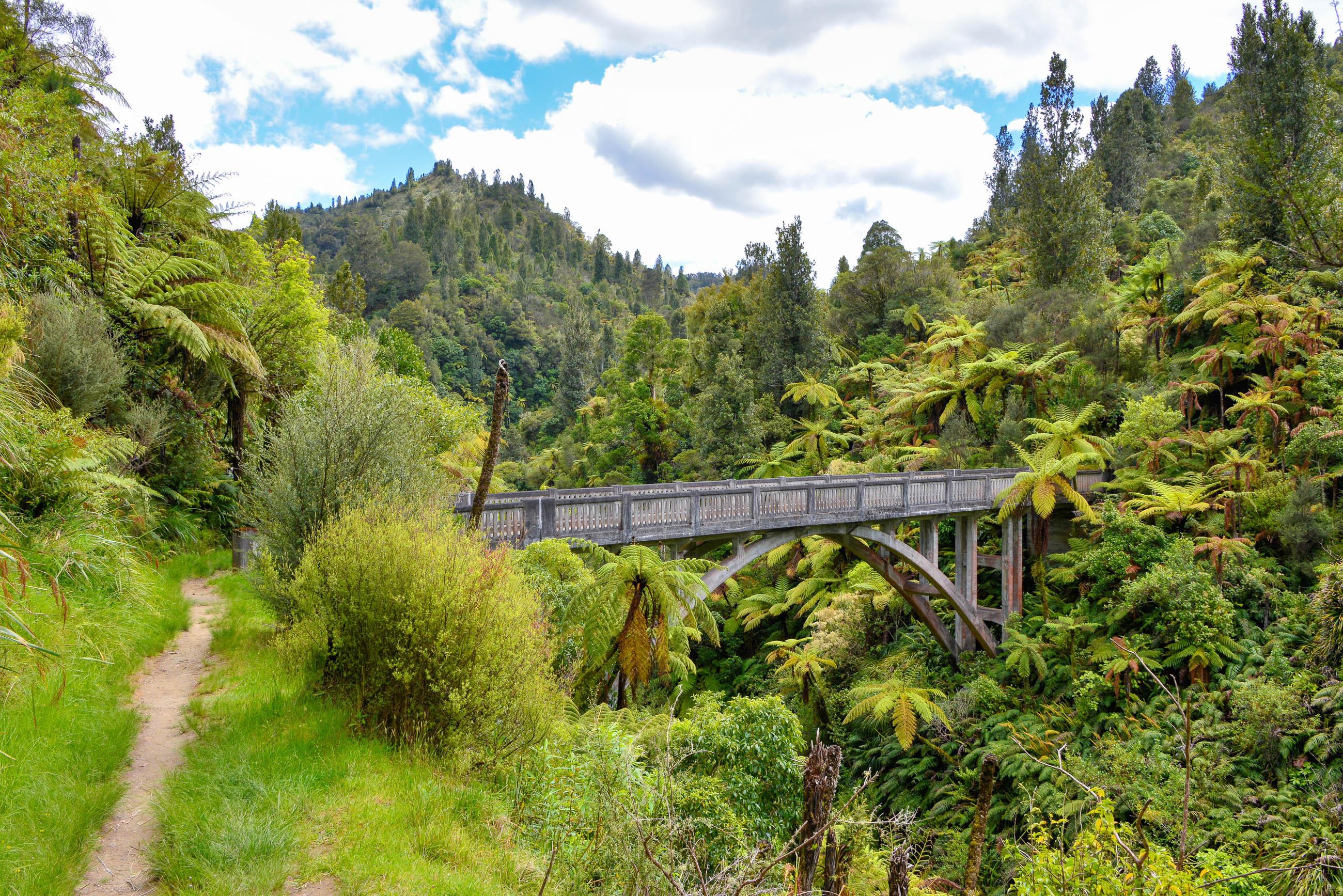 30 Bridge to Nowhere im Whanganui Nationalpark, Neuseeland   Franks ...